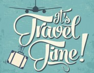 """Calligraphic  Writing """"It's Travel Time"""""""